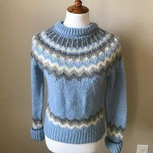 J. Crew light blue wool sweater